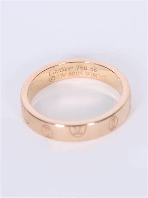 Cartier   Logo de Cartier 18kt Rose Gold Ring 56   Luxury Bags
