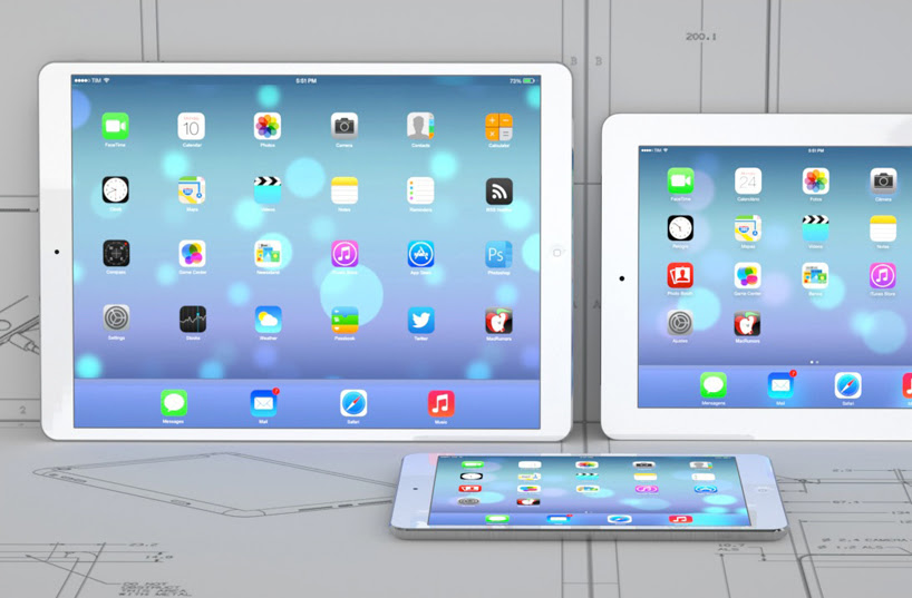 apple iPad pro with 12.9 inch retina screen in production