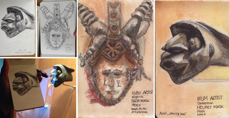 Toronto Urban Sketchers, TOUSK, AGO, Art Gallery of Ontario, African Sculpture
