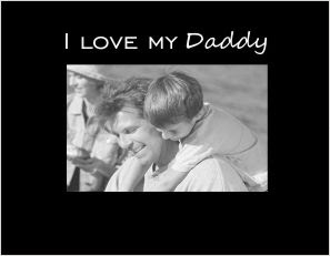 I Love My Daddy Photo Frame Athena Posters