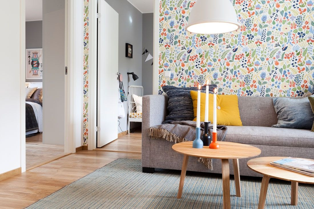 Two Bedroom Apartment Scandinavian Style Design Review Small
