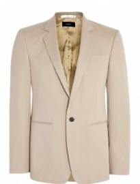 Joseph Beige Stretch Cotton Raphael Blazer
