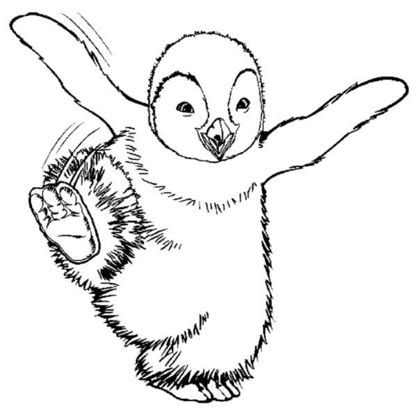 Disegno Di Happy Feet Da Colorare Per Bambini