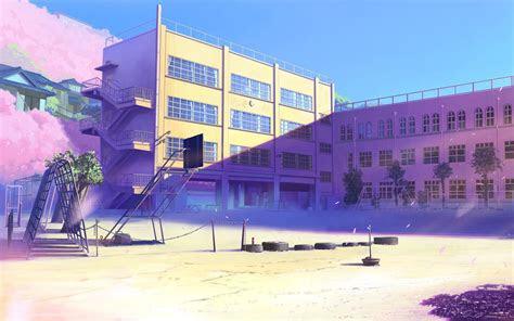 school yard image wallpapers anime scenery anime high