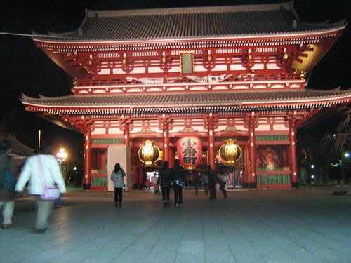 Hozomon Gate, in Christmas