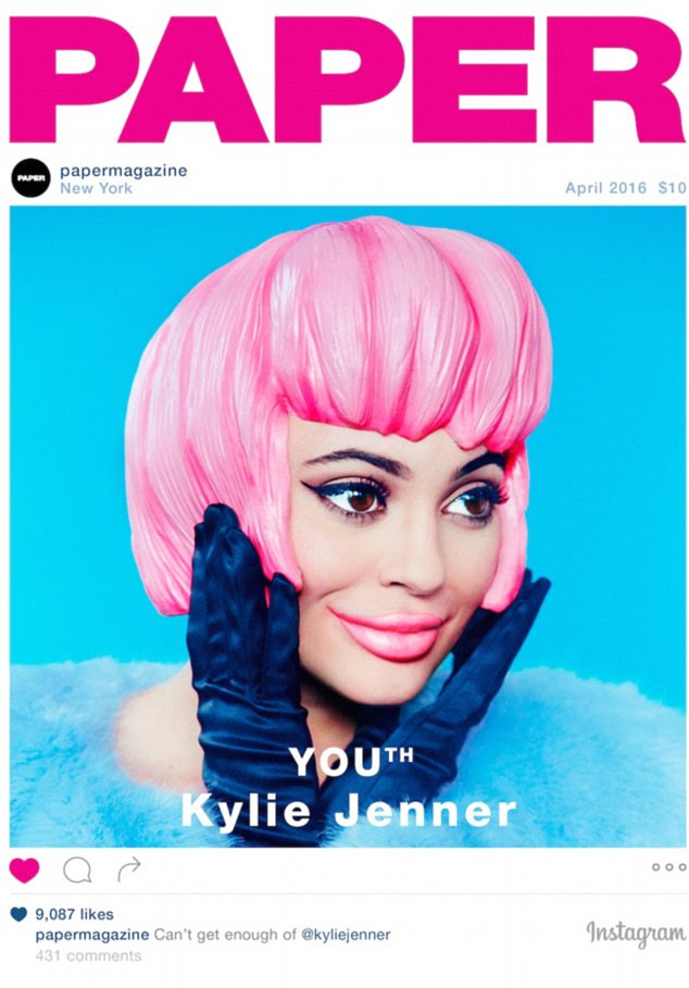 Not a social post! Kylie Jenner appears on Paper magazine's cover, which has an Instagram theme