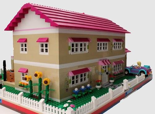 Friends bricks olivia 39 s house as full modular build for Lego house original