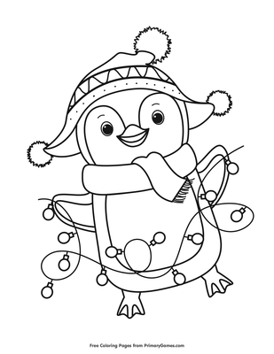 Penguin Coloring Pages Pdf Tustincarealestate