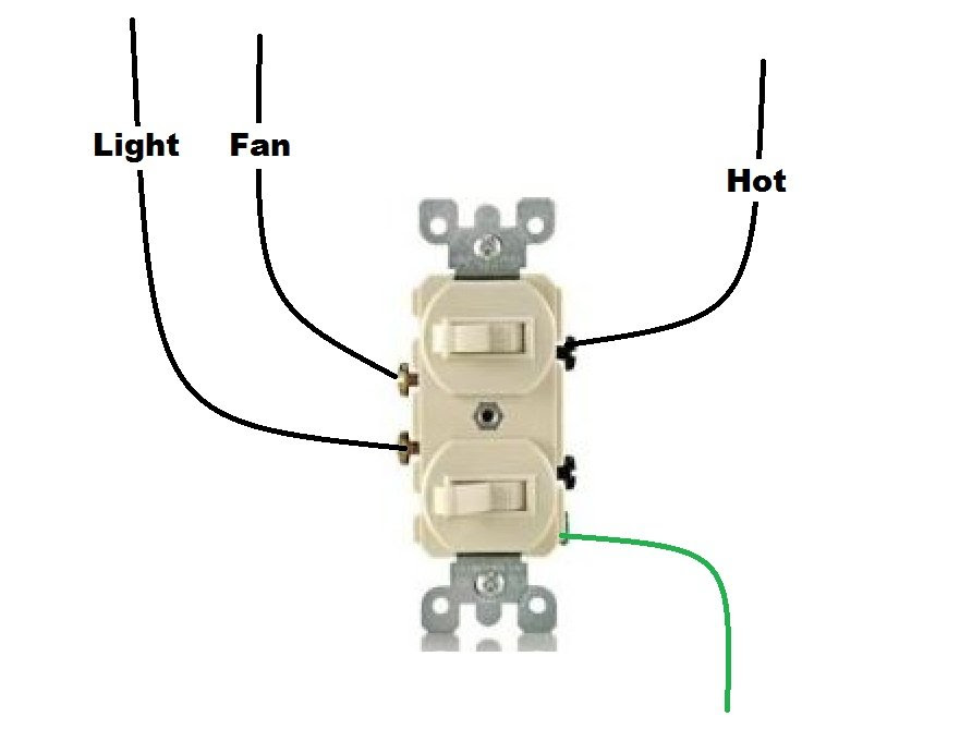 Wiring Diagram Double Switch - Home Wiring Diagram   Double Switch Wiring Diagram For Light      Home Wiring Diagram
