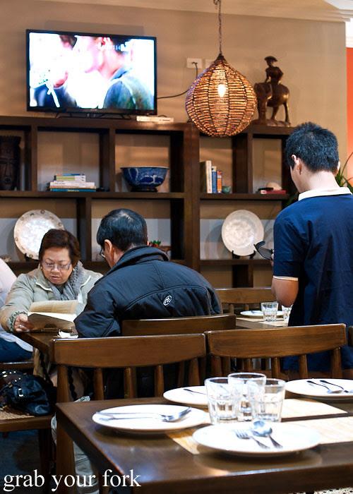 dining room at lamesa phillipine cuisine haymarket chinatown
