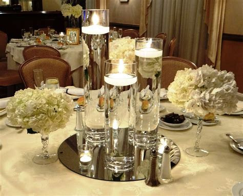 Floating Candle Centerpiece   Winter Wonderland Events