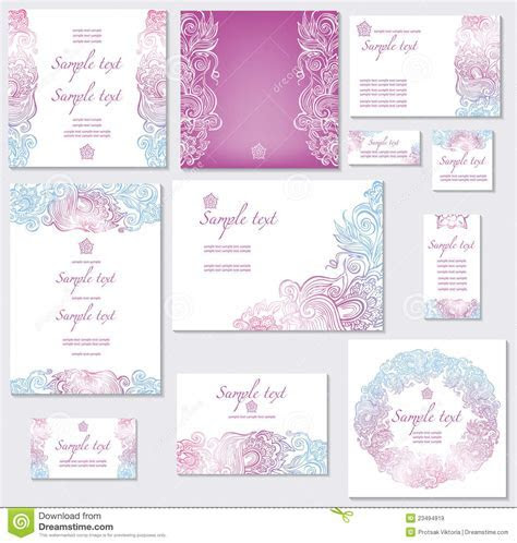 Template for wedding cards stock vector. Image of party