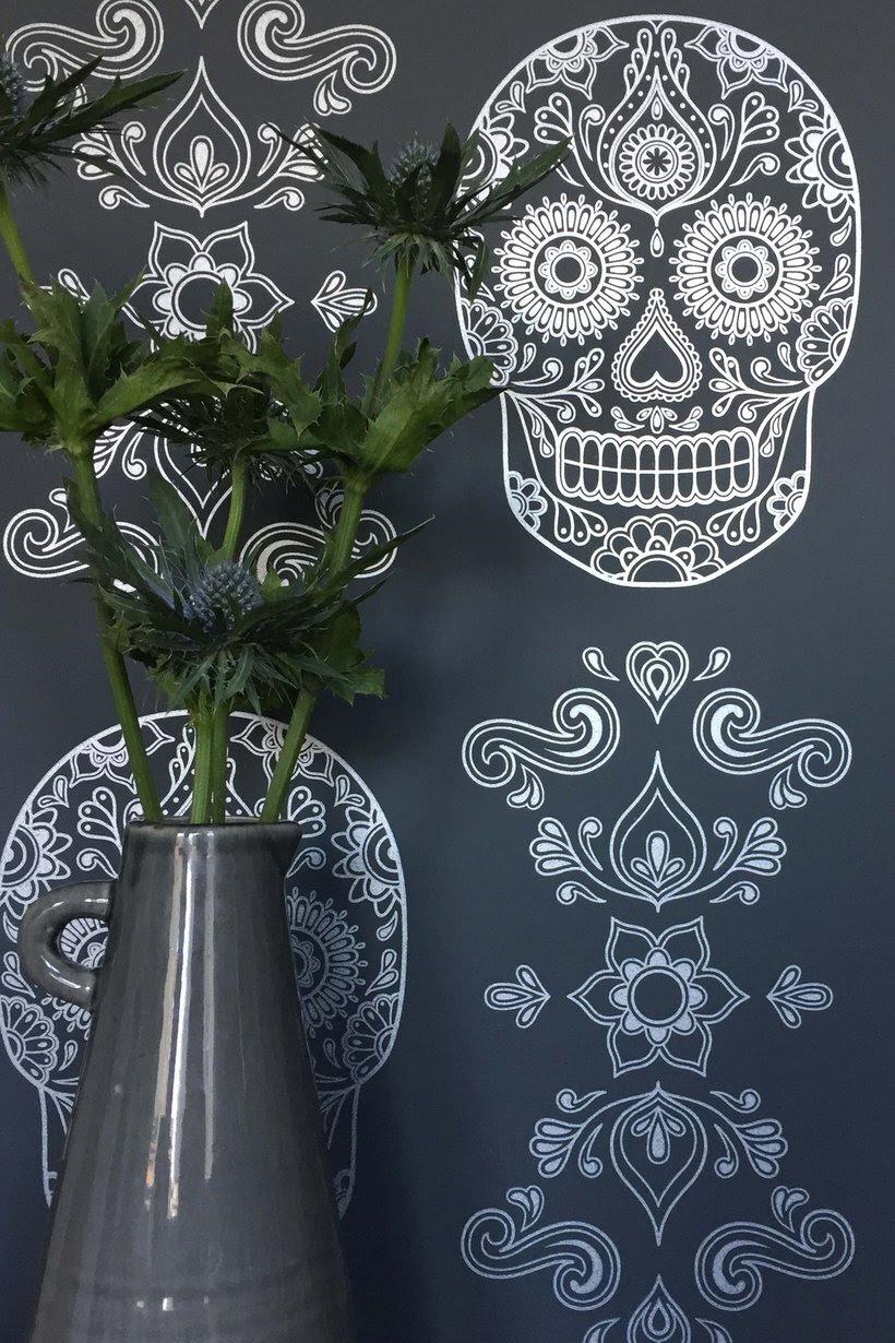 Sugar Skull Wallpaper By Anatomy Boutique Morbid Anatomy