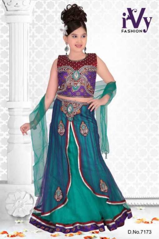 Trade-india-Summer-Anarkali-Beautiful-Cute-Eid-Dresses-2013-For-Kids-Childrens-9