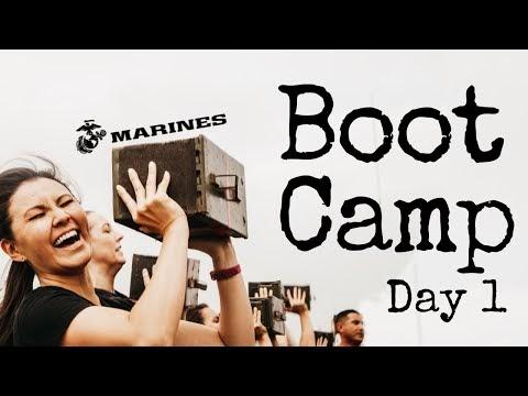 Marine Corps Bootcamp Training Day 1 - MCRD, San Diego CA