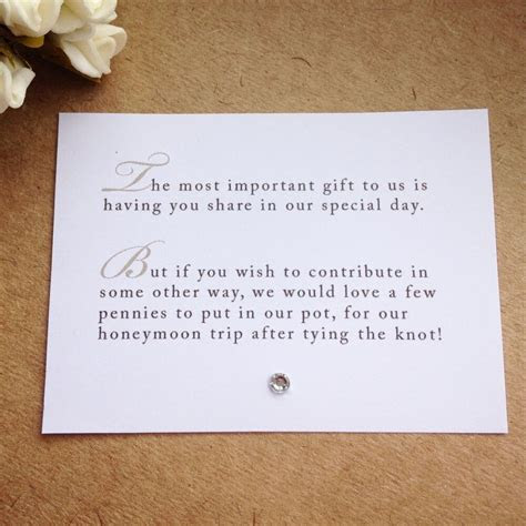 65 X Wedding Poem Cards For Invitations   Money Cash Gift