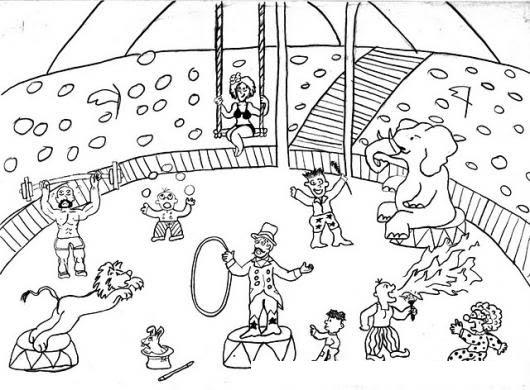 Personajes Del Circo Para Colorear Colorear Dibujos De Cholo