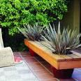 Modern planter bench - Sunset.