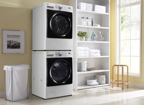 Shelving organizing for small laundry room