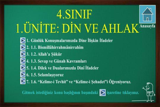 4.sınıf 1.ünite:Din ve Ahlak-1.bölüm