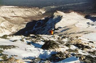 我在爬山,长白山,2002