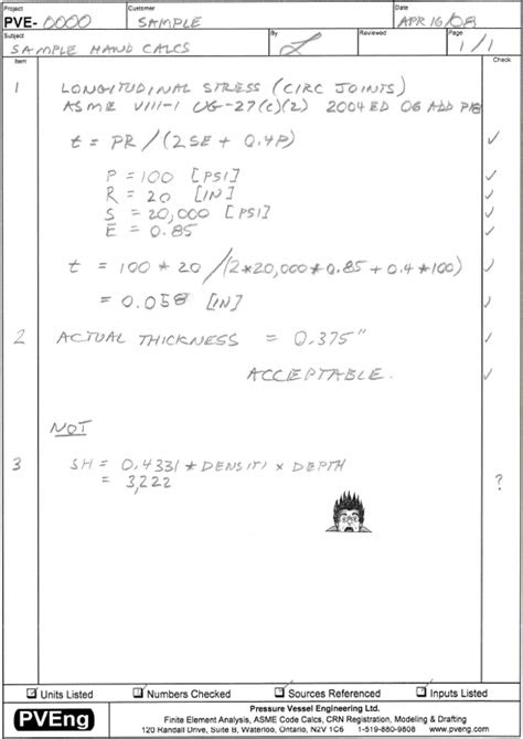 Hand Calculations | Pressure Vessel Engineering