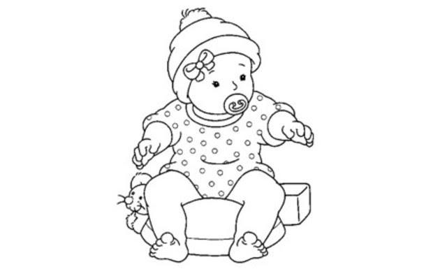 Bebes Para Colorear Pintar E Imprimir