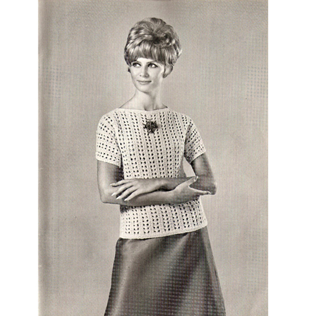 Beginners Pullover Knit Sweater Pattern, three skeins