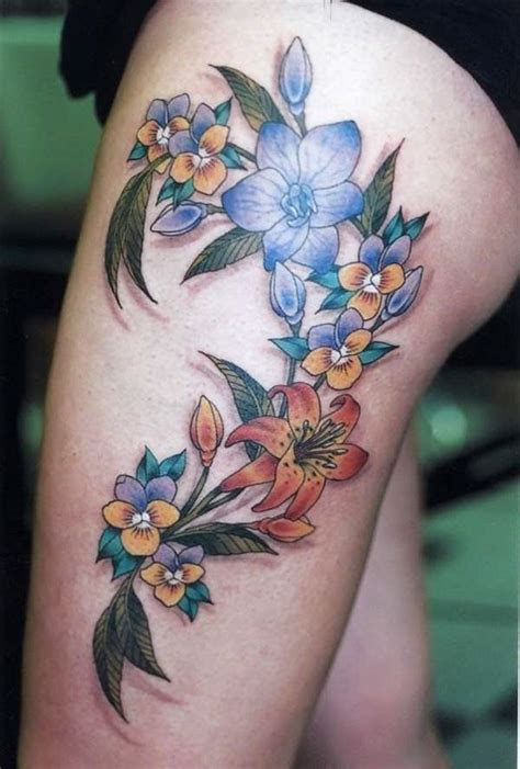 flirty girl leg tattoos designs increase heat