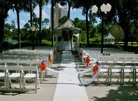 Wedding ceremony at the Buena Vista Palace gazebo on the