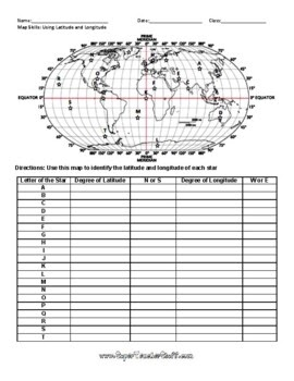 Latitude And Longitude Worksheet Answers   Nidecmege
