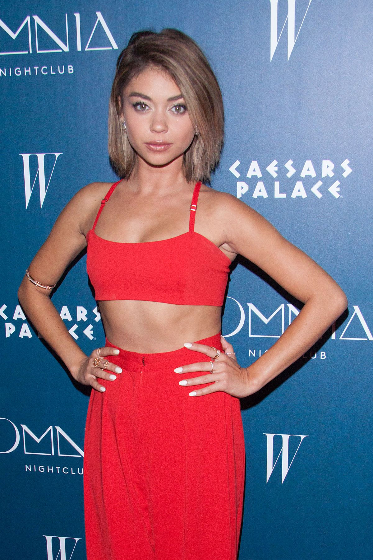 SARAH HYLAND at Omnia Nightclub Grand Opening Weekend in Las Vegas