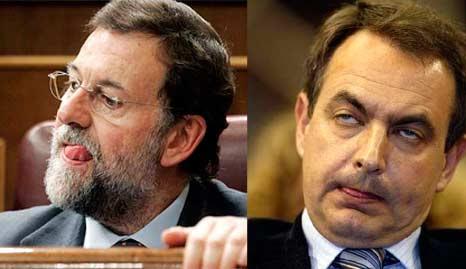 Rajoy y Zapatero haciendo el tonto