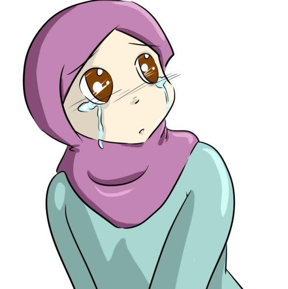 Gambar Kartun Wanita Muslimah Sedih 29 Gambar Kartun Hijab Sedih Yang Banyak Di Cari