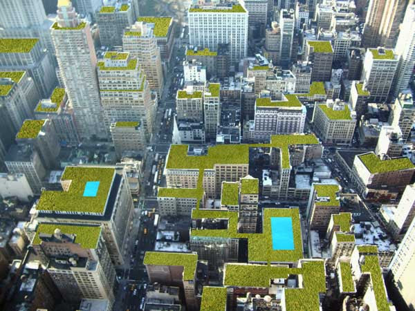 New York City as it should be: rich in roof gardens, parks and ...