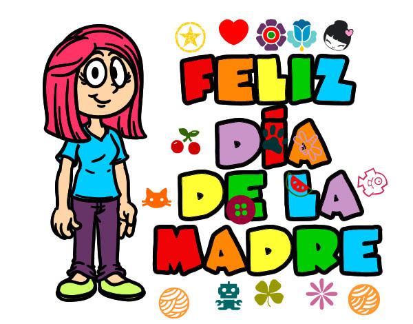 Dibujo De Feliz Dia De La Madre Pintado Por Sofia1203 En Dibujos Net