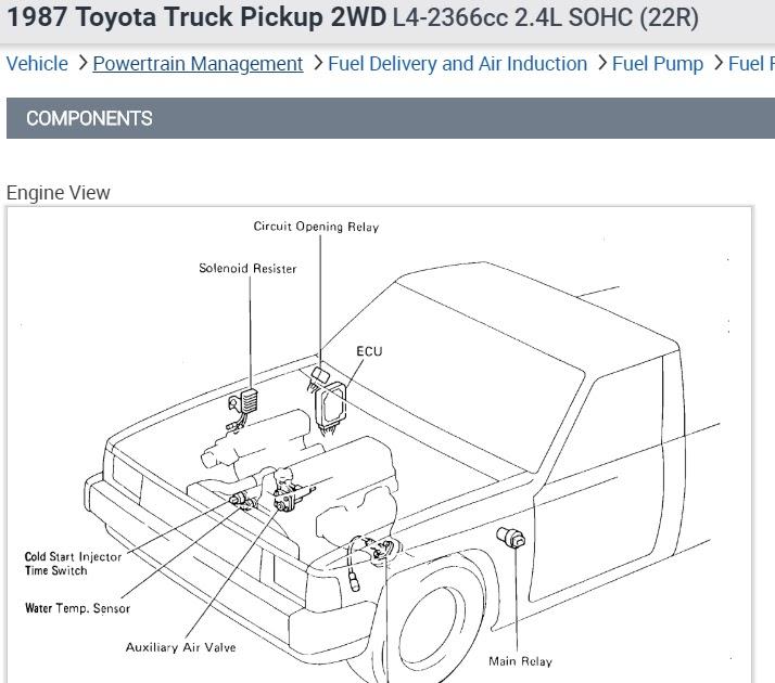 1992 Toyotum Pickup Engine Diagram