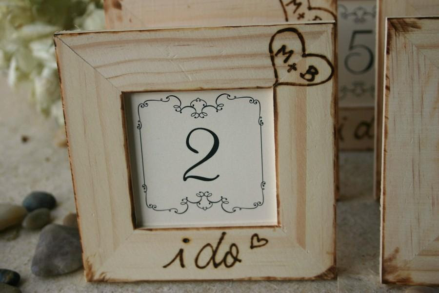 Rustic Wedding Decor Set Of 8 Table Number Frames For Your Rustic