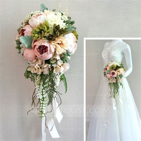 Romantic Satin Bridal Bouquets/Bridesmaid Bouquets