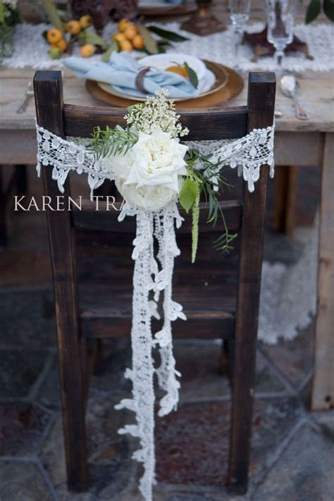 rusted weddings chair lace, we could do something cute