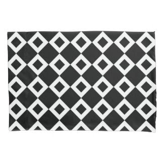 Black and White Diamond Pattern Pillowcase
