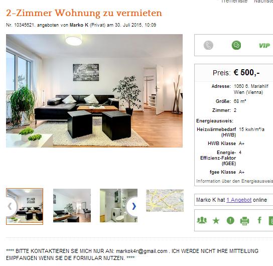 Wohnungsbetrug.blogspot.com: Markokorad@gmail.com