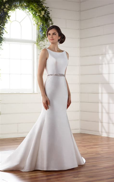 Wedding Dresses   Structured Silk Wedding Dress   Essense