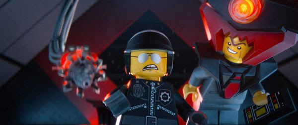 Bad Cop/Good Cop (Liam Neeson) and Lord Business (Will Ferrell) are up to no good in THE LEGO MOVIE.