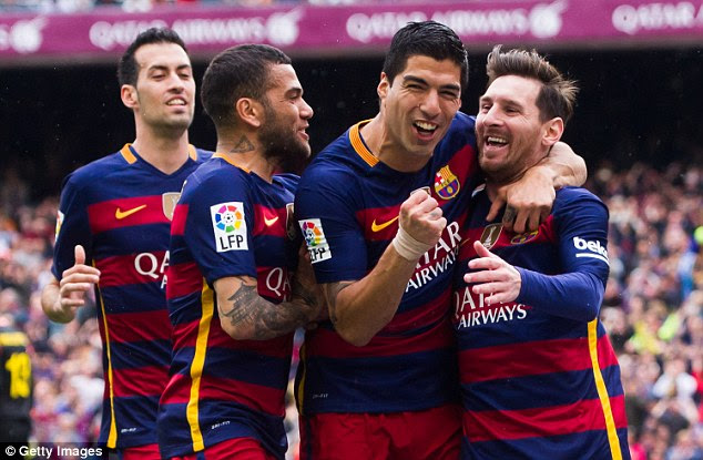 Barca are one win away from retaining the La Liga title - while Qatar Airways have opened talks with the league