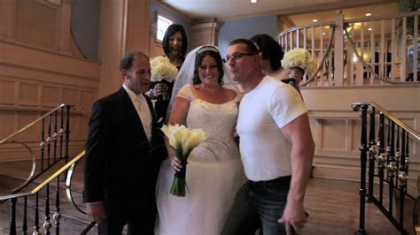 Celebrity Chef Robert Irvine passing at a Disney wedding
