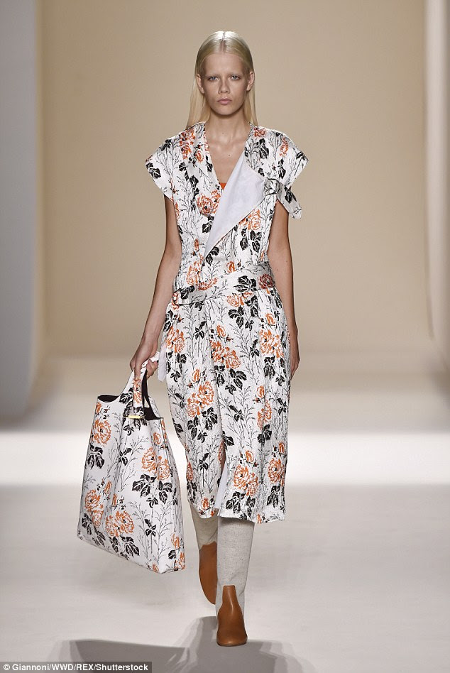 Floral: The clothes themselves seem to have been conceived to highlight the thinness of the wearer