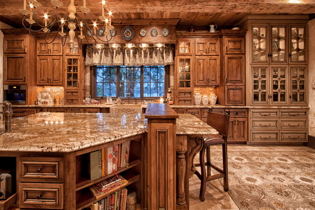 Old World Kitchen - Traditional - Kitchen - charlotte - by ...