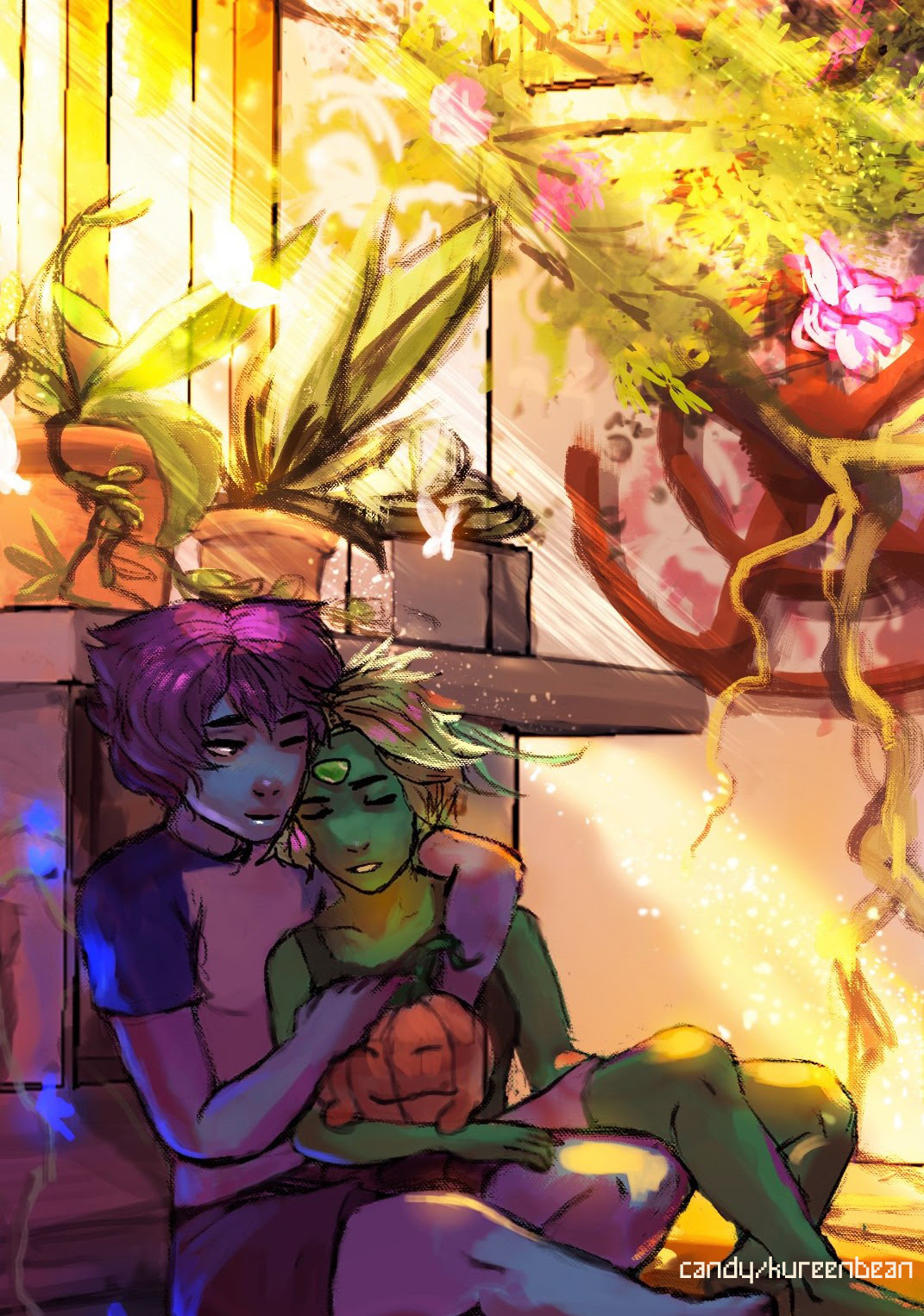 I feel like Lapidot would make their own greenhouse shed but with a little tech and some experiments by Peri while Lapis looks after the plants.