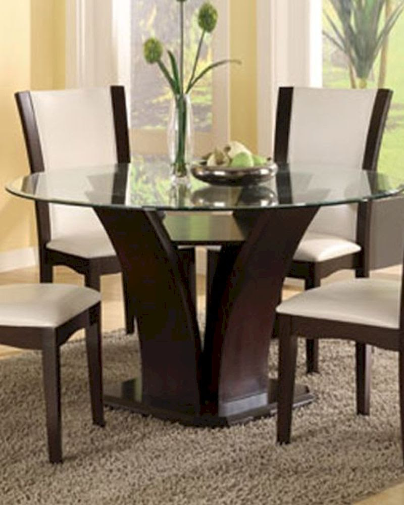 Round Glass Top Dining Table Daisy EL-710-54